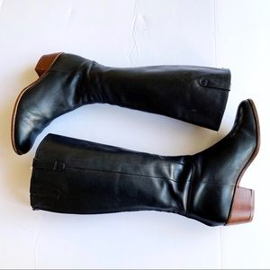 Cole Haan Black leather Riding boots Size 10